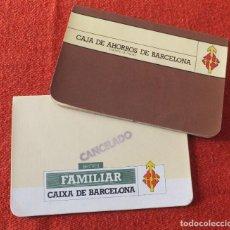 Documentos bancarios: CAJA DE BARCELONA. Lote 217935096