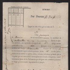 Documentos bancarios: ARAHAL- SEVILLA- PAGARE -GRAFICO TIERRA QUE SE VENDE AÑO 1904. VER FOTO. Lote 219810755