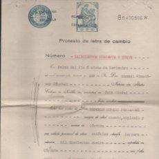 Documentos bancarios: PALMA DEL RIO.- PROTESTO DE LETRA NOTARIO: MANUEL ALMODOVAR SANCHEZ.- AÑO 1930--VER FOTOS. Lote 219818135