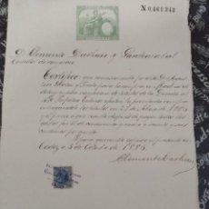 Documentos bancarios: ORDEN DE COMPRA EN MADRID DE TITULOS DE LA DEUDA AL 4% PERPETUO EXTERIOR EN 1886.. Lote 219889983