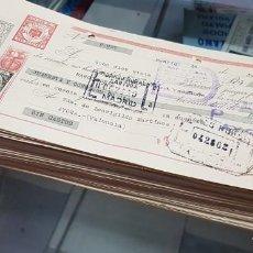 Documentos bancarios: LOTE DE ANTIGUAS LETRAS DE CAMBIO DOCUMENTOS BANCARIOS SELLOS TIMBRES. Lote 220382548