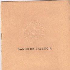 Documentos bancarios: 1929 BANCO DE VALENCIA - LIBRETA CAJA DE AHORROS LIBRETA Nº 5 LOLÍN GARDO EDO - ALCUDIA DE CARLET. Lote 220994225