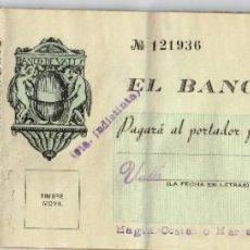 Documentos bancarios: 1948 A 1955 BANCO DE VALLS - TALONARIO DE CHEQUES LAS MATRICES ESCRITAS CON TINTA CALCULAN INTERESES. Lote 221830163