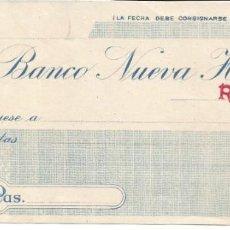 Documentos bancarios: REUS-BARCELONA. Lote 222570788
