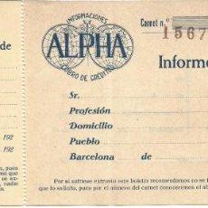 Documentos bancarios: BARCELONA. Lote 222571101