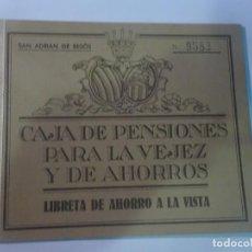 Documentos bancarios: LIBRETA DE CAJA DE AHORROS , SAN ADRIÁN DEL BESOS , BARCELONA 1956, VER FOTOS. Lote 222827818