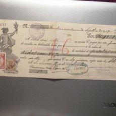 Documentos bancarios: PAGARÉ O CHEQUE DEL AÑO 1917. Lote 223407716
