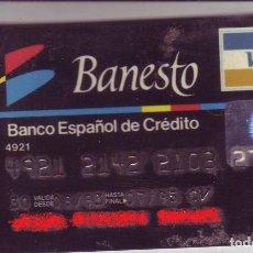 Documentos bancarios: BANESTO - ANTIGUA TARJETA DE CREDITO - VISA CLASSIC - AÑOS 90. Lote 223973796