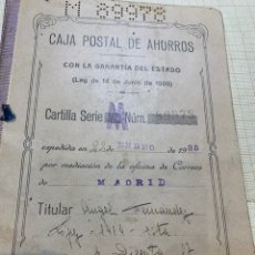 Documentos bancarios: CARTILLA CAJA POSTAL DE AHORRO 1935/1945 SELLOS II REPUBLICA. Lote 224286841