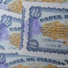 Documentos bancarios: LOTE DE 4 // PAPEL DE FIANZAS 1954 - 5 CINCO - CLASE E / INSTITUTO NACIONAL DE LA VIVIENDA. Lote 224947137