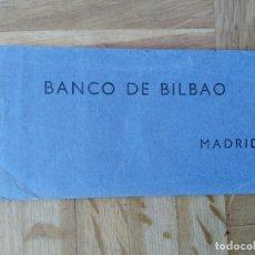 Documentos bancarios: CHEQUERA DEL BANCO DE BILBAO, AÑOS 60, CHEQUES CON ORLA Y DIBUJO. VER FOTOS. Lote 225793593