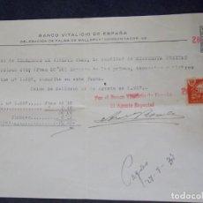 Documentos bancarios: BANCO VITALICIO DE ESPAÑA. Lote 226200127