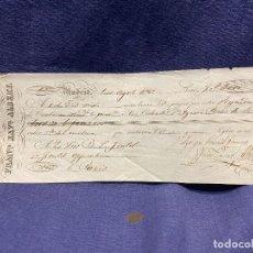 Documentos bancarios: PAGARE LETRA CAMBIO 1842 PEREZ DE SOTO FRANCOS GOULD & GOULD OPENHEIM PARIS ENDOSE ALLENDE Y OSMA. Lote 227654890
