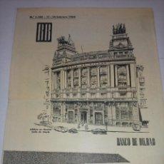 Documentos bancarios: INFORMACION SEMANAL DE VALORES DEL BANCO DE BILBAO 1964. Lote 229051905