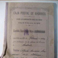 Documentos bancarios: CARTILLA CAJA POSTAL DE AHORROS . 1940. Lote 229482135