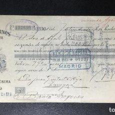 Documentos bancarios: ALTOS HORNOS DE VIZCAYA , BILBAO , LETRA DE CAMBIO , CLASE 2 , 1913 , EXCELENTE CONSERVACIÓN .. Lote 230036895