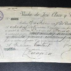 Documentos bancarios: LETRA DE CAMBIO 1907 , BILBAO , VIUDA DE JOSÉ OLAVE Y CÍA. COKES Y CARBONES .. Lote 230044705