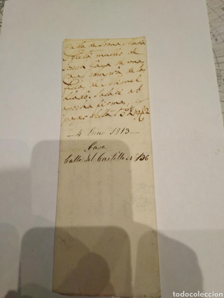 DOCUMENTO COMPRA CASA 1813 (Coleccionismo - Documentos - Documentos Bancarios)