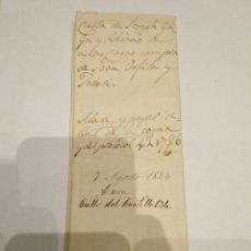 Documentos bancarios: DOCUMENTO ANTIGUO DE 1824. Lote 230109650