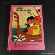 Documentos bancarios: AGENDA DEL AMA DE CASA 1982 CAJA DE AHORROS PROVINCIAL DE ALICANTE. Lote 230652195