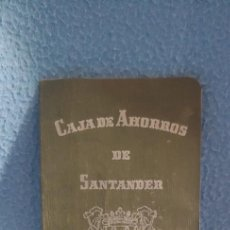Documentos bancarios: LIBRETA ,CAJA DE AHORROS DE SANTANDER,SELLO DE MATAPORQUERA.AÑO 1966. Lote 230810770