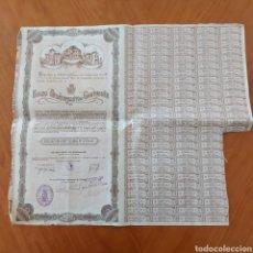 Documentos bancarios: OBLIGACION EXMO.AYUNTAMIENTO DE CARTAGENA 500 PESETAS NOMINALES .BARCELONA 1929.. Lote 232958160