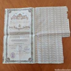 Documentos bancarios: OBLIGACION EXMO.AYUNTAMIENTO DE CARTAGENA 500 PESETAS NOMINALES .BARCELONA 1929.. Lote 232959315