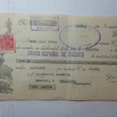 Documentos bancarios: LETRA DE CAMBIO AÑO 35 EMITIDO POR GABRIEL LÁZARO DE DAROCA. Lote 235200455