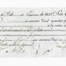Documentos bancarios: LETRA DE CAMBIO. 1837. MADRID. 6800 REALES DE VELLÓN, ORO O PLATA. VER. Lote 235620675