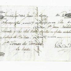 Documentos bancarios: LETRA DE CAMBIO. 1830. MADRID. 66000 REALES DE VELLÓN EN EFECTIVO METÁLICO. VER. Lote 235621050