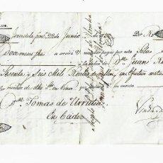 Documentos bancarios: LETRA DE CAMBIO. 1830. MADRID. 66000 REALES DE VELLÓN EN EFECTIVO METÁLICO. VER. Lote 235621155