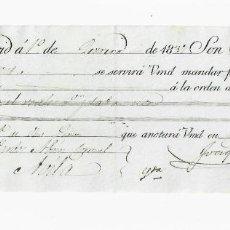 Documentos bancarios: LETRA DE CAMBIO. 1837. MADRID. 2000 REALES DE VELLÓN, ORO Y PLATA. VER. Lote 235627365