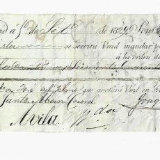 Documentos bancarios: LETRA DE CAMBIO. 1829. MADRID. 640 REALES DE VELLÓN, ORO Y PLATA. VER. Lote 235627665