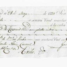 Documentos bancarios: LETRA DE CAMBIO. 1830. MADRID. 3000 REALES DE VELLÓN, ORO Y PLATA. VER. Lote 235627775