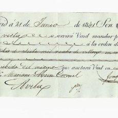Documentos bancarios: LETRA DE CAMBIO. 1841. MADRID. 7000 REALES DE VELLÓN, ORO Y PLATA. VER. Lote 235627845