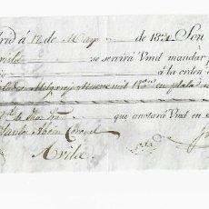 Documentos bancarios: LETRA DE CAMBIO. 1830. MADRID. 9000 REALES DE VELLÓN, ORO Y PLATA. VER. Lote 235627870