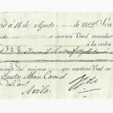 Documentos bancarios: LETRA DE CAMBIO. 1829. MADRID. 3000 REALES DE VELLÓN, ORO Y PLATA. VER. Lote 235627985