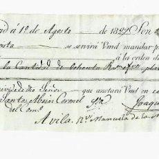 Documentos bancarios: LETRA DE CAMBIO. 1829. MADRID. 80 REALES DE VELLÓN, ORO Y PLATA. VER. Lote 235628035