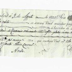 Documentos bancarios: LETRA DE CAMBIO. 1829. MADRID. 3800 REALES DE VELLÓN, ORO Y PLATA. VER. Lote 235628105