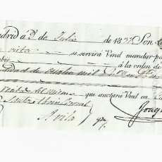 Documentos bancarios: LETRA DE CAMBIO. 1837. MADRID. 4000 REALES DE VELLÓN, ORO Y PLATA. VER. Lote 235628255