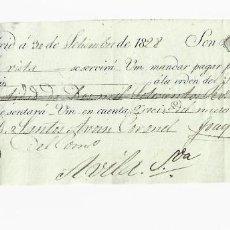 Documentos bancarios: LETRA DE CAMBIO. 1828. MADRID. 2700 REALES DE VELLÓN, ORO Y PLATA. VER. Lote 235628355