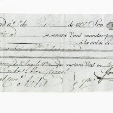 Documentos bancarios: LETRA DE CAMBIO. 1837. MADRID. 300 REALES DE VELLÓN, ORO Y PLATA. VER. Lote 235628410