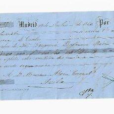 Documentos bancarios: LETRA DE CAMBIO. 1860. MADRID. 5000 REALES DE VELLÓN, ORO Y PLATA. VER. Lote 235628540
