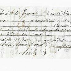 Documentos bancarios: LETRA DE CAMBIO. 1838. MADRID. 9496 REALES DE VELLÓN Y 17 MARAVEDÍS. VER. Lote 235628705