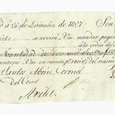 Documentos bancarios: LETRA DE CAMBIO. 1827. MADRID. 3000 REALES DE VELLÓN, ORO O PLATA. VER. Lote 235628780