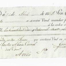Documentos bancarios: LETRA DE CAMBIO. 1831. MADRID. 8000 REALES DE VELLÓN, ORO O PLATA. VER. Lote 235628895