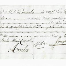 Documentos bancarios: LETRA DE CAMBIO. 1829. MADRID. 1600 REALES DE VELLÓN, ORO O PLATA. VER. Lote 235629200