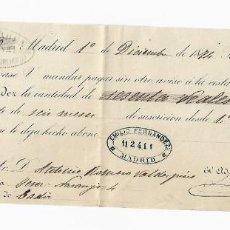 Documentos bancarios: LETRA DE CAMBIO. 1874. MADRID. 60 REALES DE VELLÓN, ORO O PLATA. VER. Lote 235629305