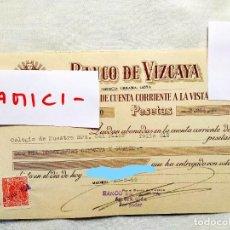 Documentos bancarios: 1959 - CHEQUE DE ABONO DE MATRÍCULA DEL COLEGIO DEL PILAR DE MADRID. Lote 236404280
