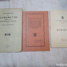 Documentos bancarios: VIGO 1925 1919 1965 - LOTE 3 ESTATUTOS ' CAJA DE AHORROS MONTE DE PIEDAD DE VIGO '. Lote 236829070